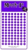 "Stick-on Dots Medium 1/4"" Numbered 1-240 PURPLE"