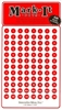 "Stick-on Dots Medium 1/4"" Numbered 1-240 red"