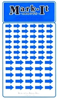 Stick-on Arrows blue map stickers