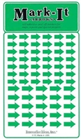 Stick-on Arrows green map stickers