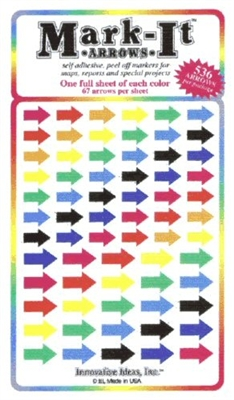 Stick-on Arrows Mixed Colors