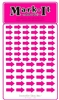 Stick-on Arrows Pink map stickers