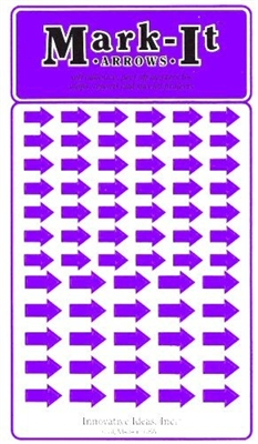 Stick-on Arrows purple map stickers