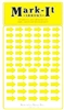 Stick-on Arrows yellow map stickers