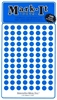 "600 blue 1/4"" map stick-on map dots"
