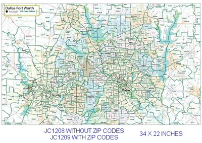 DFW Highways & Thoroughfares Zip Code