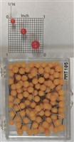 "Yellow, medium, round-head MAP PINS 100/box. 1/8"" head and 5/16"" shaft length."