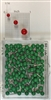 "Dark Green, medium, round-head MAP PINS 100/box. 1/8"" head and 5/16"" shaft length."