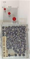 "Robbins Egg Blue color, medium, round-head Map Pins 100/box. 1/8"" head and 5/16"" shaft length."
