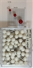 "400 Series White, large, round-head Map Pins 50/box. 1/4"" head and 3/8"" shaft length."