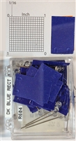 "#r600 series  dark blue, rectangular shaped map pins / flags. 25 to box. 1/8"" clear headed pin"