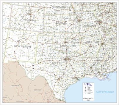 One Map Place South Central United States map