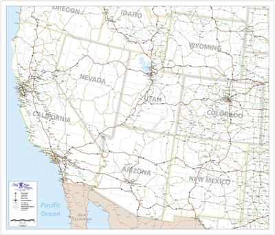 One Map Place South West United States Map