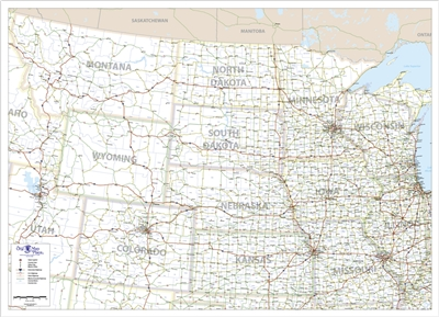 One Map Place North Central United States Map