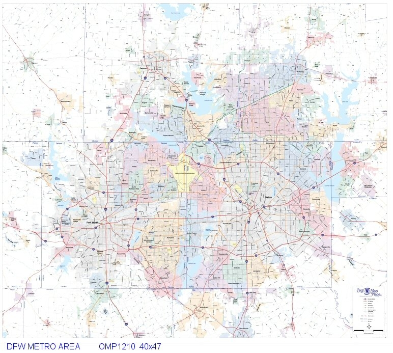 Map Of Dfw Area Dallas   Fort Worth Metro Area 40x47