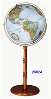 "EDINBURGH II 16"" INCH GLOBE BLUE OCEAN RAISED"