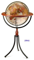 "SANTA FE 16"" INCH GLOBE ANTIQUE RAISED BRONZE-METALLIC"