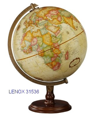 "LENOX 12"" INCH GLOBE ANTIQUE RAISED-RELIEF"
