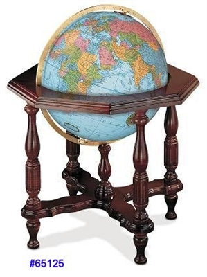 "STATESMAN 20"" inch BLUE OCEAN Lighted Globe"