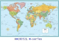 Rand McNally World M Series 50 x 32