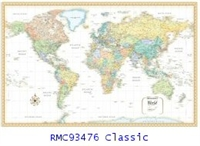 Rand McNally World Classic 50 x 32