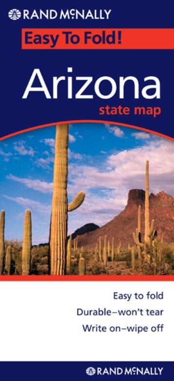 Arizona Easy To Fold Map - Rand mcnally easy to fold maps
