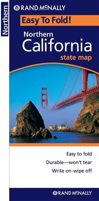 Northern California Easy to fold map