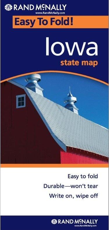 IOWA Easy To Fold Map - Rand mcnally easy to fold maps