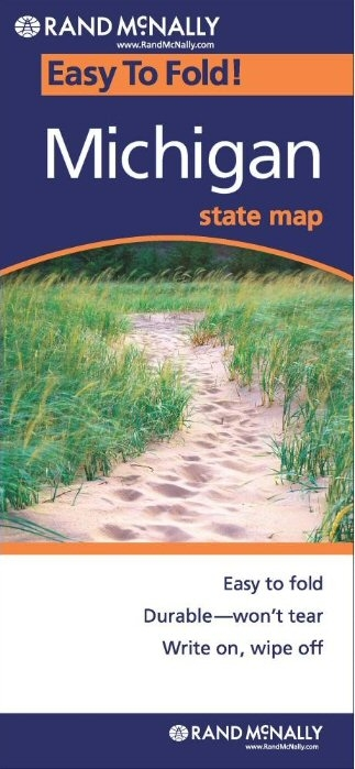 MICHIGAN Easy To Fold Map - Rand mcnally easy to fold maps