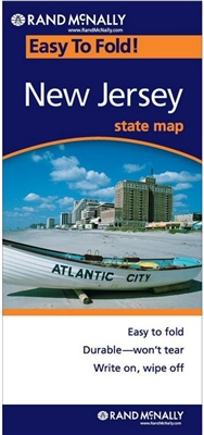 New Jersey Easy To Fold map