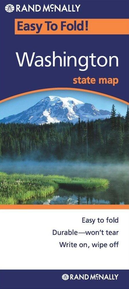 Washington State Easy To Fold Map - Rand mcnally easy to fold maps