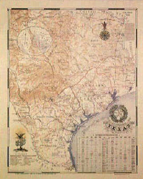 Map Of Texas 1836.Texas 1836 Map 26x32