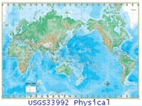 USGS33992 physical world map
