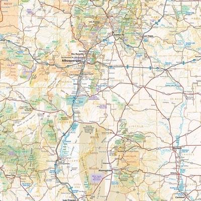 Benchmark New Mexico Atlas - Nm road map