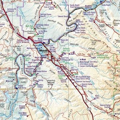Benchmark Utah Atlas - Utah road map