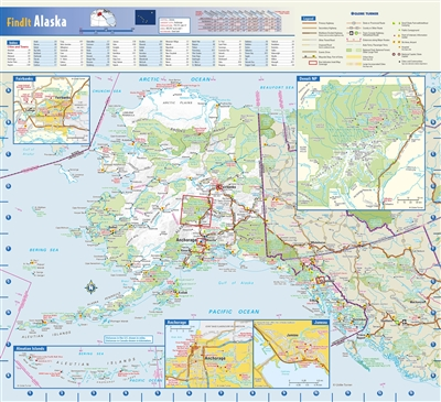 Alaska State Wall Map by Globe Turner