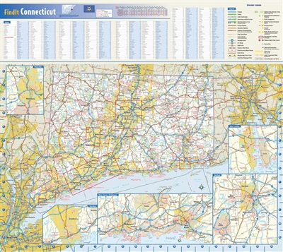 Connecticut State Wall Map by Globe Turner