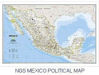 National Geographic Mexico map