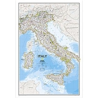 National Geographic map containing Italy