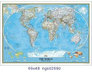 National Geographic political World Map