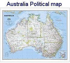 National Geographic Australia map