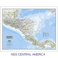 National Geographic Central America map