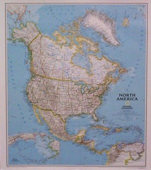 National Geographic North America map
