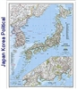 National Geographic Japan and Korea map