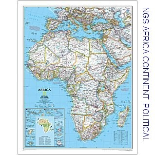 National Geographic Africa Enlarged X - 36 x 48 world map