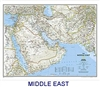 National Geographic Middle East political map