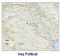 National Geographic Iraq map