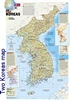 National Geographic map containing North and South Korea