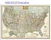 National Geographic U.S. Earth-toned Political Map