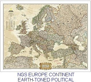 National Geographic Europe Map